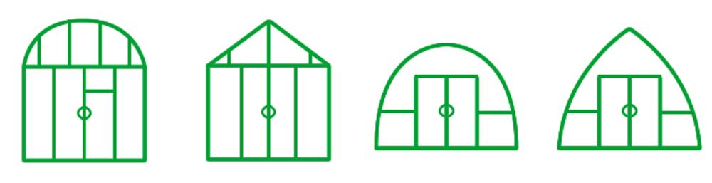 Разнообразие форм промышленных теплиц